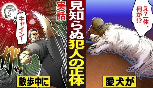 【漫画】散歩中に愛犬が見知らぬ男に蹴られて即死…犯人の驚きの正体とは…【実話】